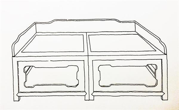 明清传统家具手绘